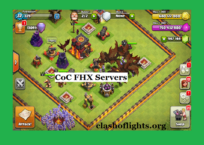 Clash of Clans CoC FHX- Servers+ Hacks Download Free For Apk